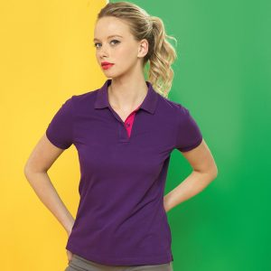 RSrnYC Women's Contrast Polo