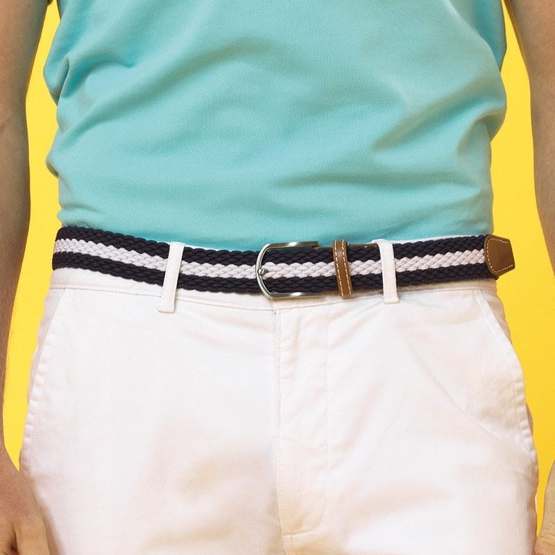 FS – Two Colour Stripe Braid Stretch Belt