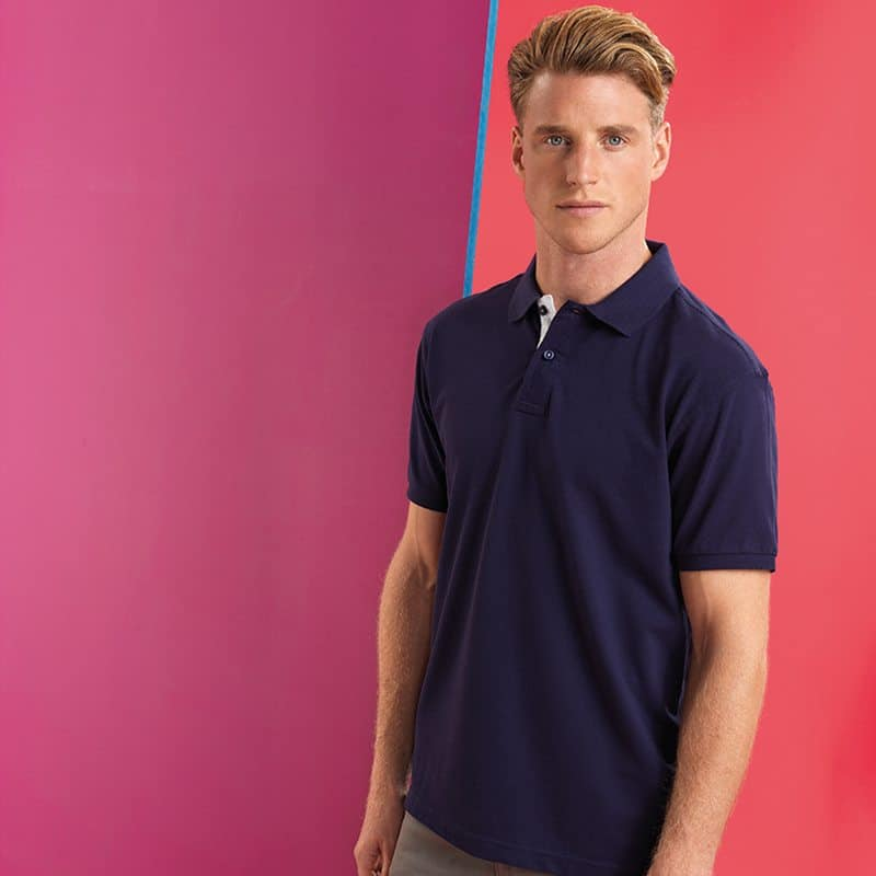 RSrnYC Men's Contrast Polo