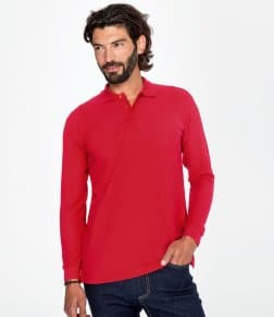 SOL'S Star Long Sleeve Cotton Piqué Polo Shirt