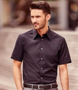 Russell Collection Short Sleeve Tencel® Fitted Shirt