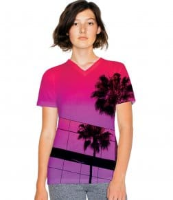 American Apparel Ladies Sublimation V Neck T-Shirt