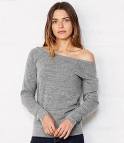 Bella Tri-Blend Sponge Fleece Wide Neck Sweatshirt