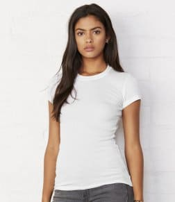 Bella Sheer Rib Longer Length T-Shirt