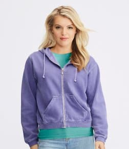 Comfort Colors Ladies Zip Hooded Sweatshirt
