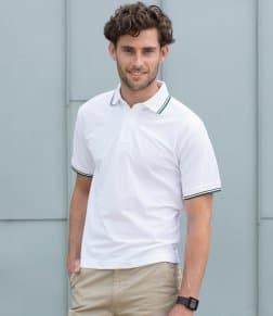 Henbury Tipped Poly/Cotton Piqué Polo Shirt