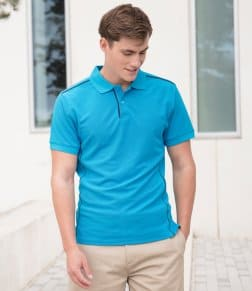 Henbury Coolplus® Anti-Bac Textured Piqué Polo Shirt