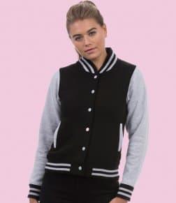 AWDis Girlie Varsity Jacket