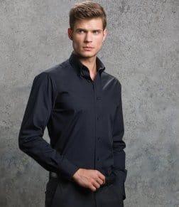 Kustom Kit Long Sleeve City Business Shirt