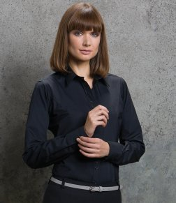 Kustom Kit Ladies Long Sleeve City Business Shirt
