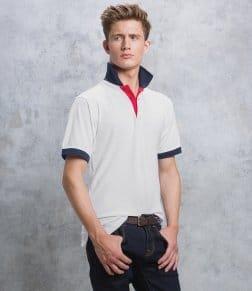 Kustom Kit Contrast Poly/Cotton Piqué Polo Shirt