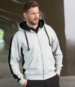 Finden &amp, Hales Contrast Zip Hooded Sweatshirt