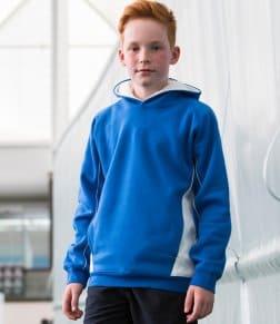 Finden & Hales Kids Contrast Hooded Sweatshirt