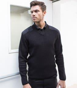 RTY Nato Style Acrylic V Neck Sweater