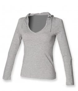 SF Ladies Long Sleeve Hooded T-Shirt