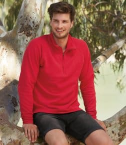 Fruit of the Loom Classic Zip Neck Sweatshirt