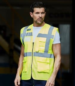 Yoko Hi-Vis Top Cool Open Mesh Executive Waistcoat