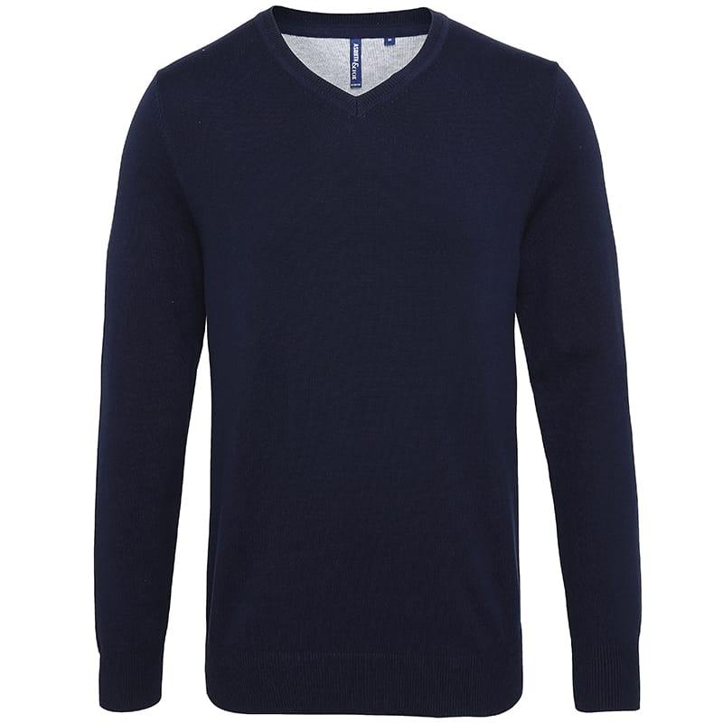 Asquith & Fox V-Neck Sweater Mens