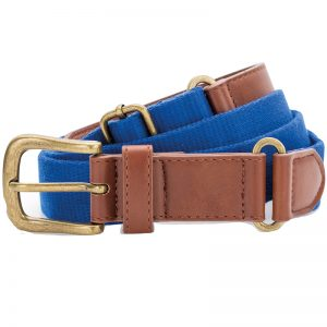 Asquith & Fox Faux Leather & Canvas Belt